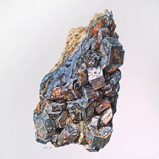 <img class='new_mark_img1' src='https://img.shop-pro.jp/img/new/icons5.gif' style='border:none;display:inline;margin:0px;padding:0px;width:auto;' />【 Andart 】 鉱物の図版-GALÈNE-方鉛鉱