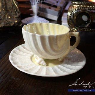 【 Andart 】 Belleek / Neptune / デミタスカップ&ソーサー ( A )