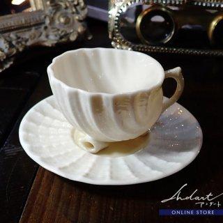 【 Andart 】 Belleek / Neptune / デミタスカップ&ソーサー ( B )