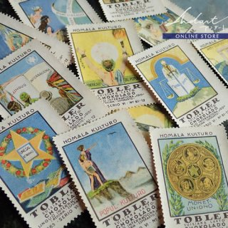 【 Andart 】Chocolate Card  / TOBLER / Homala Kulturo / 1922