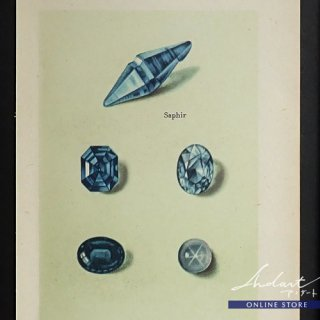 【 Andart 】 鉱物の図版-Saphir, Smaragd-碧玉, 翠玉