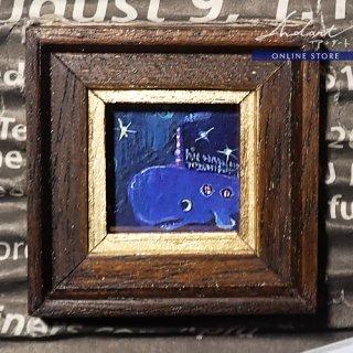【 HASHIMOTO HIROMI 】原画 / クジラの飛行艇