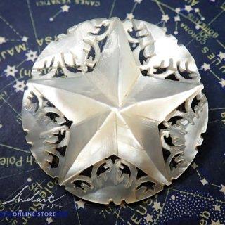 【 Andart 】 ベツレヘムの星 / マザーオブパール / Brooch ( Z )