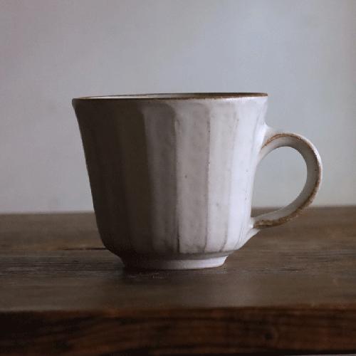 秋谷茂郎 リンゴ釉マグカップ