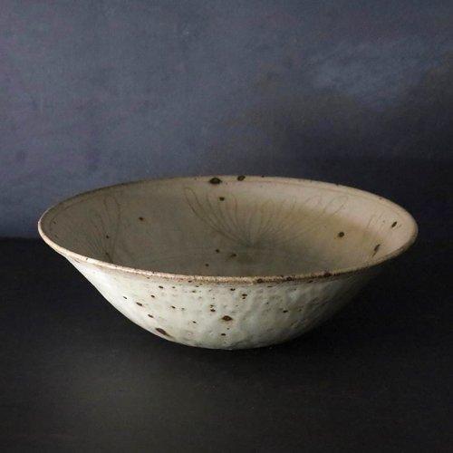 森山陶器 花富士紋 七寸ごけ底鉢