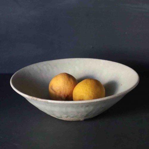 森山陶器  灰釉 6寸鉢