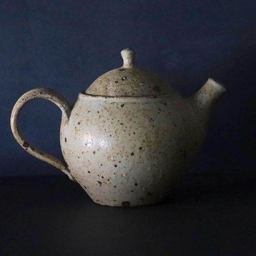 森山陶器  ポット(大)白