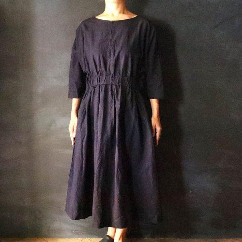 YAMMA  Xラインワンピース(丈5cmプラス)濃紺