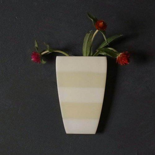 イロノカケハナ  植木鉢型 小(白×クリーム)
