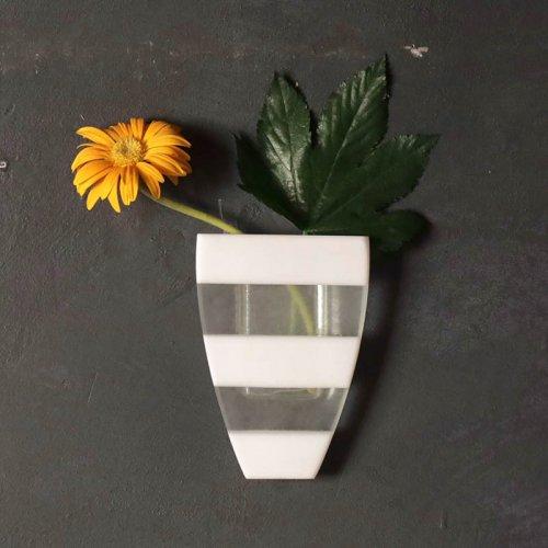 イロノカケハナ  植木鉢型 小(白×クリア)