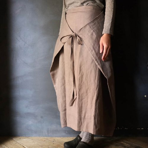 SARAXJIJI オックスフォードリネンフォールドスカート(80cm)