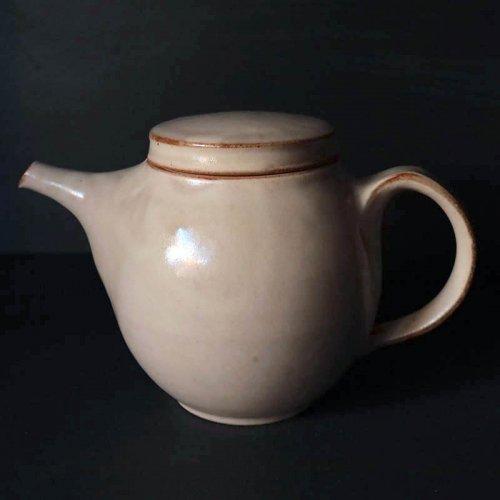 秋谷茂郎 リンゴ釉 丸味 ポット