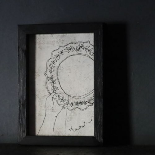 Nutel 絵画「レリーフ皿」