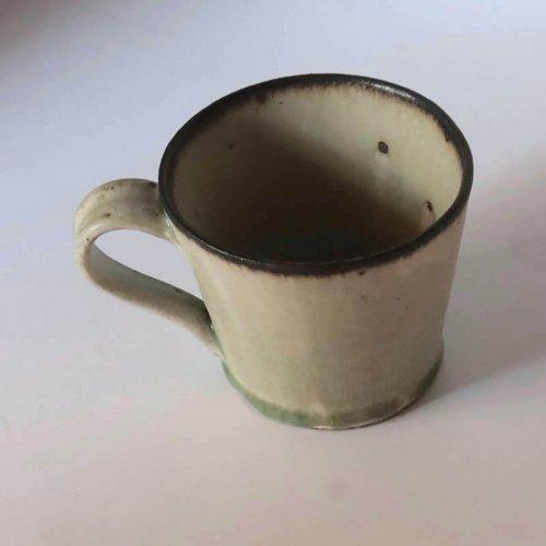 森山陶器 ストレートマグ  灰/黒