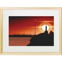 夕陽のマリア像