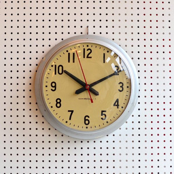 1960's 『NATIONAL TIME』 SCHOOL CLOCK