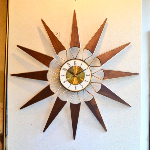 1950's 『ELGIN』 SUNBURST CLOCK