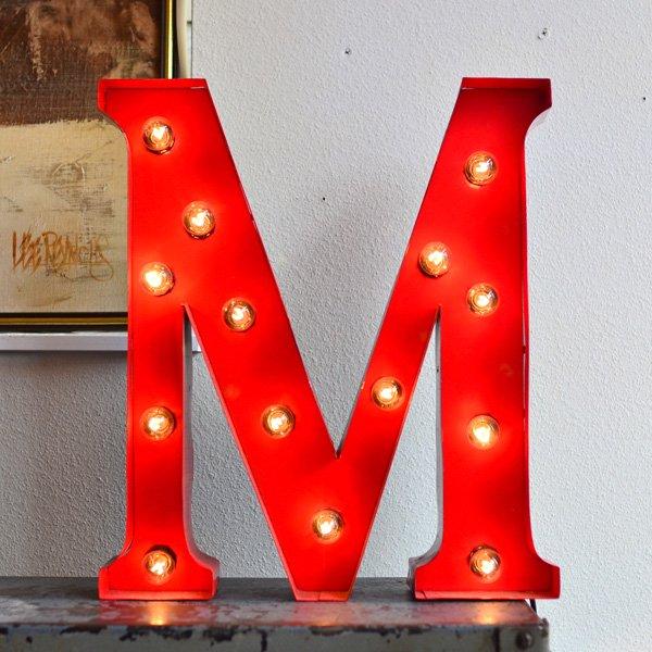 VINTAGE LIGHT SIGN 『M』
