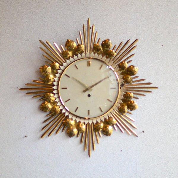 1950's 『JUNGHANS』 SUNBURST CLOCK