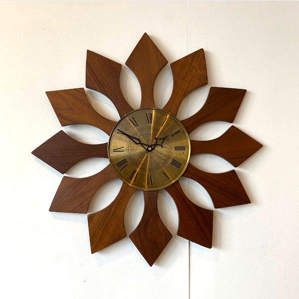 1960's  『ROXHAL』 SUNBURST CLOCK