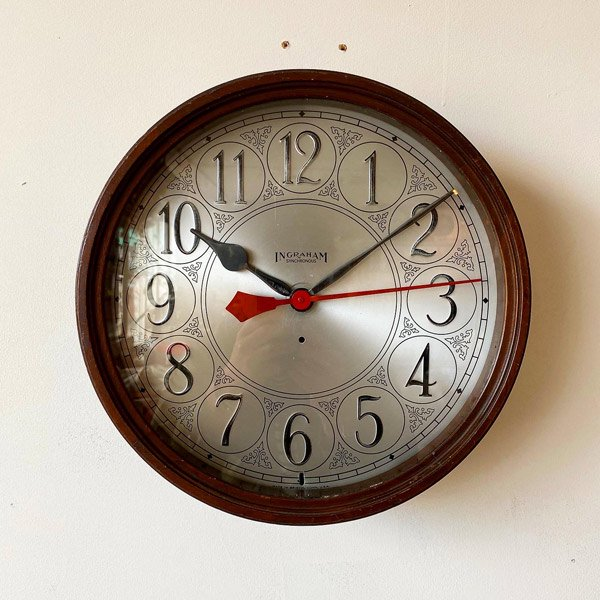 1950's 『INGRAHAM』 WALL CLOCK