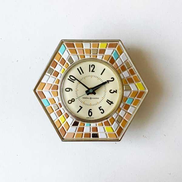 1960's 『GENERAL ELECTEIC』KITCHIN CLOCK (PINK)