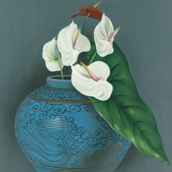 青い花瓶 【レンタル使用品】