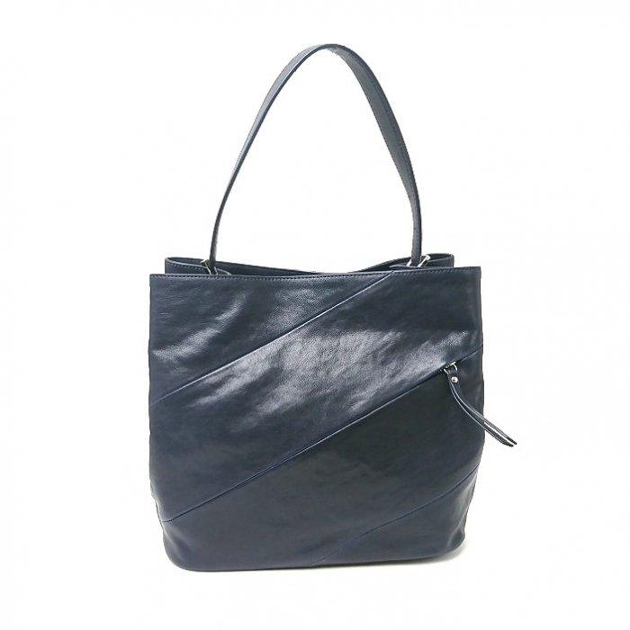 【アウトレット】羊革に本物の蛇革を配した高級トートバッグ ワンハンドルトートバッグ