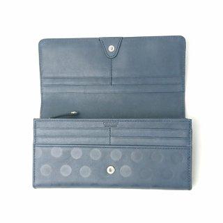 【アウトレット/ドット】パステルカラーのレザーに、ドットを型押し。アクセサリーみたいにカワイイ長財布<br>カブセ長財布