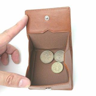 【ピケット】革の王道/ベジタブルレザーを使った小銭が取り出しやすい小銭入れ<br>BOX小銭入れ