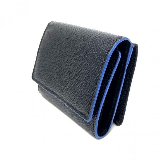 【コバカラー】コバに塗られたさりげないカラーリングがポイント!<br>コンパクト三つ折り財布