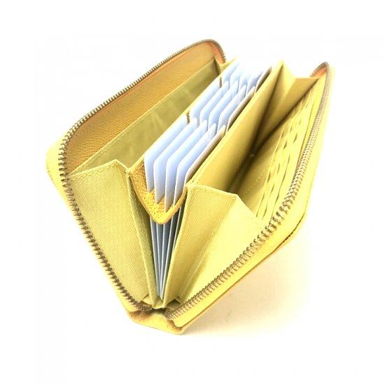【アウトレット/ポップアップ(実用新案商品)】カードが主役!カード時代の新定番<br>ラウンドファスナー長財布