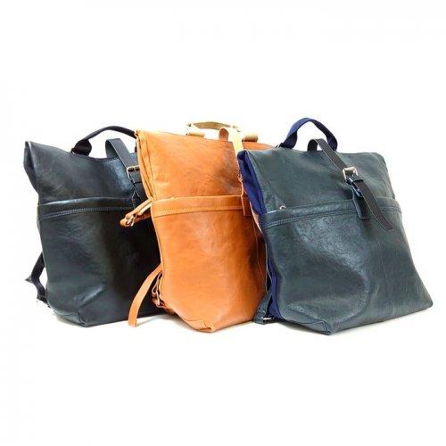 【アウトレット】開口部の形を変えられる、便利な2WAYレザーバッグ<br> 2WAYバッグ