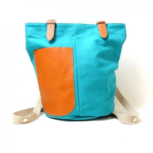 【アウトレット/帆布】カラーバリエーション豊富なボディに、牛革をあしらった帆布バッグ 2WAYリュック