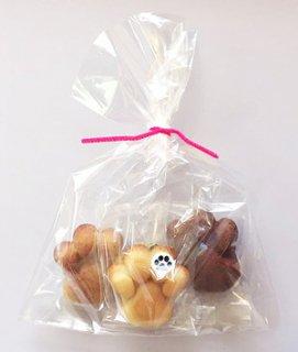 【寄付つき】猫になれるお菓子・肉球フィニャンシェ3個入りお味見セット