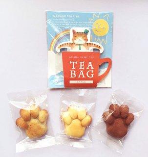 【寄付つき】猫になれるお菓子・肉球フィニャンシェ3個&猫紅茶セット