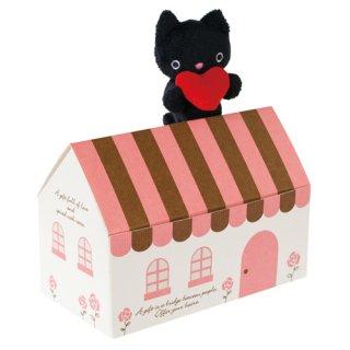 【寄付つき】【猫好きさんへのプレゼントに♪】猫になれるお菓子・肉球フィニャンシェ10個&黒猫ストラップセット