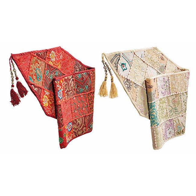インド刺繍のパッチワーク テーブルランナー