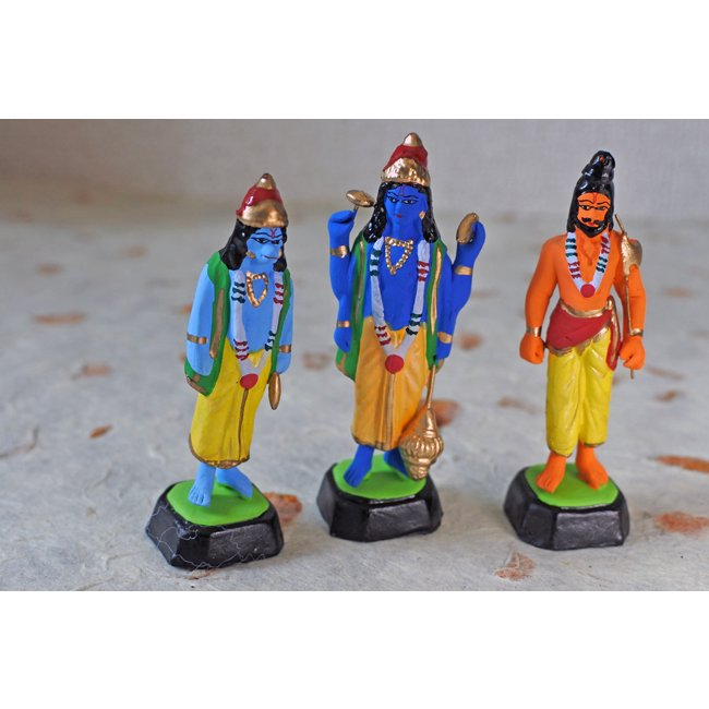 インド 人形 神様6体セット  クリシュナ ブッダ 他