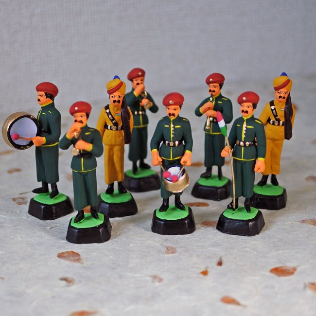 インド 人形セット 楽団