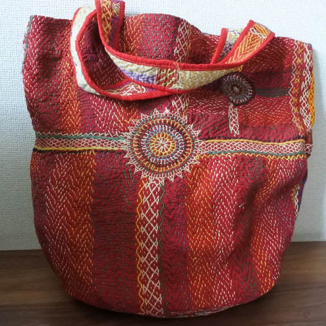 バンジャラ族 刺し子 刺繍 トートバッグ
