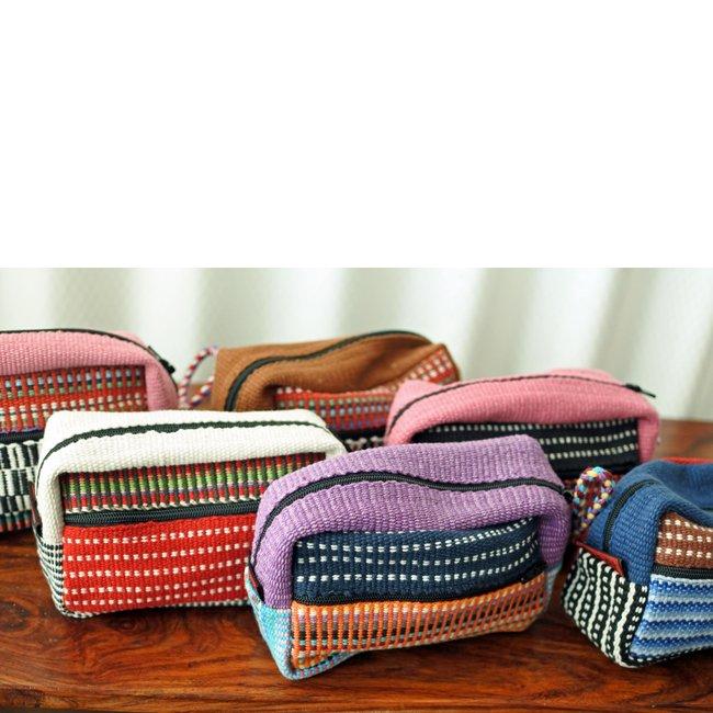 手織り コットン カラフルポーチ ネパール 製 WSDO