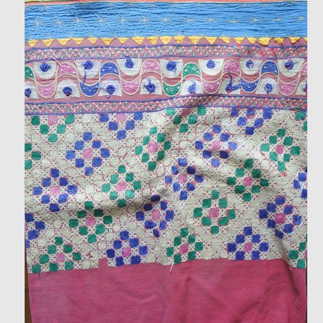 ラバリ族 ヴィンテージ刺繍布 ハーフD