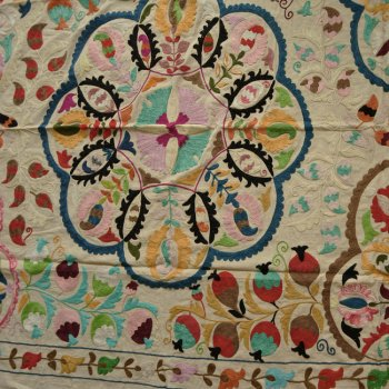 スザニ  インドの刺繍布