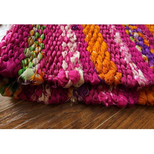 裂き織り テーブルマット サリー 古布 2カラー
