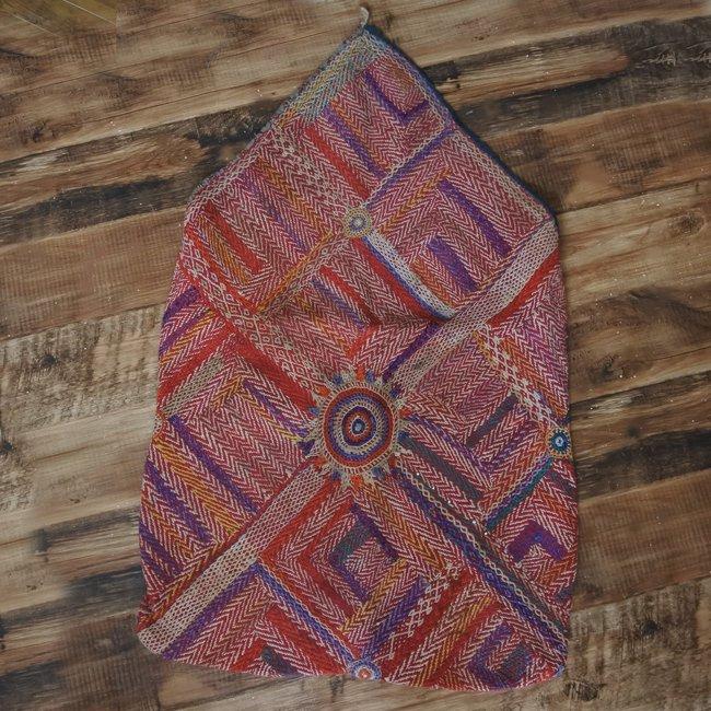 バンジャラ族 ヴィンテージ刺繍 布袋 B