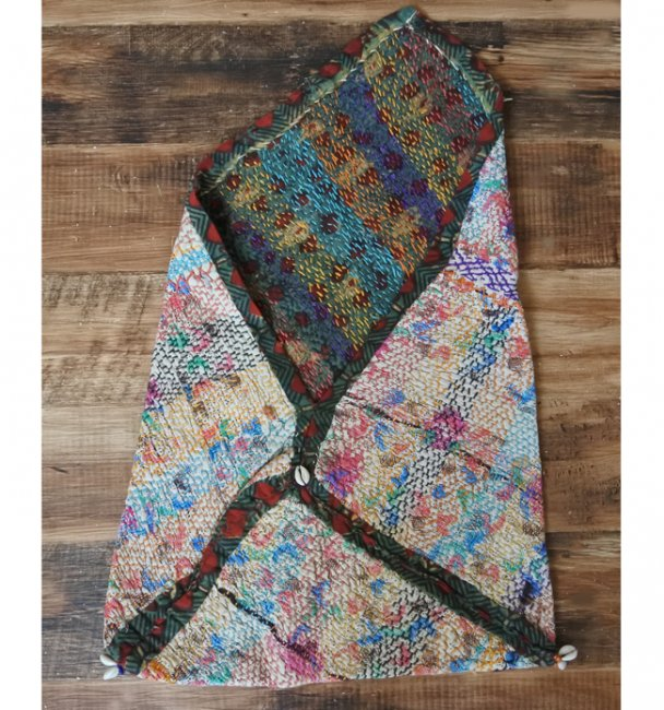 バンジャラ族 ヴィンテージ刺繍 布袋 C