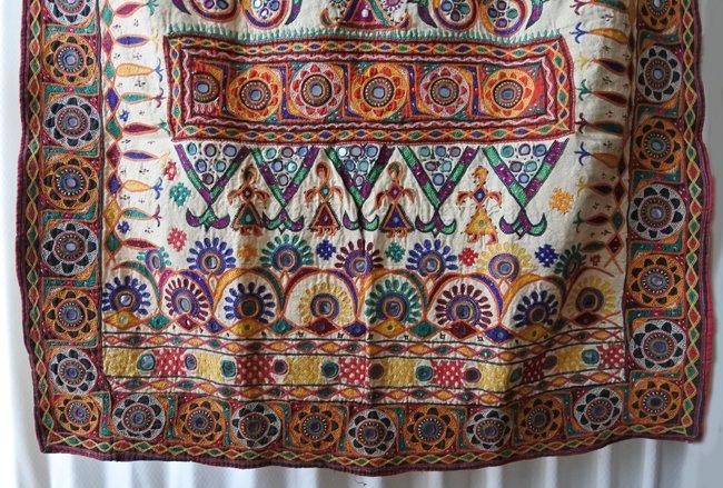 ラバリ族 ヴィンテージ刺繍 壁掛け C