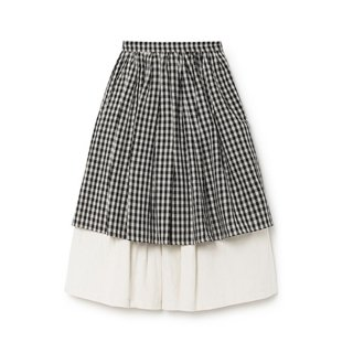 50% off little creative factory CHECKED LAYERED SKIRT
