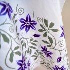 あひろ屋 てぬぐい 鉄線唐草(紫)
